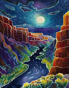 Moonlit Canyon